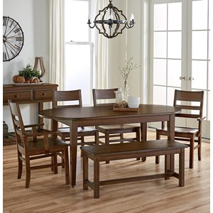 Artisan & Post Simply Dining 6-Piece Table Set with Bench
