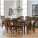 Artisan & Post by Vaughan Bassett Simply Dining 7-Piece Table Set - Item Number: 206-200+2x011+4x010