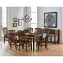 Artisan & Post Simply Dining 7-Piece Solid Cherry Boat Table Set