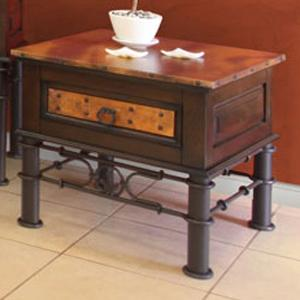 International Furniture Direct 300 Valencia End Table