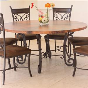 "International Furniture Direct 300 Valencia 47"" Round Copper Dining Table"