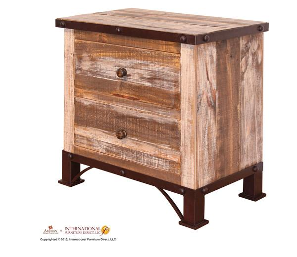 International Furniture Direct 970 2 Drawer Nightstand - Item Number: 966017