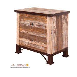 International Furniture Direct 970 2 Drawer Nightstand
