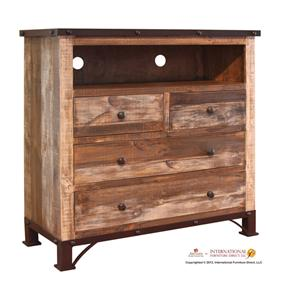 International Furniture Direct 970 Media Chest