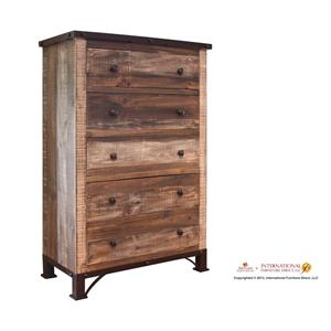 International Furniture Direct 970 5 Drawer Chest