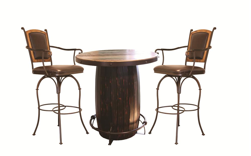 International Furniture Direct 970 3PC Dining Set - Item Number: IFD967BISTRO-T+B+91BS36+SA