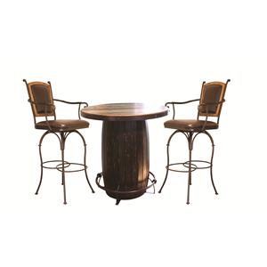 International Furniture Direct 970 3PC Dining Set