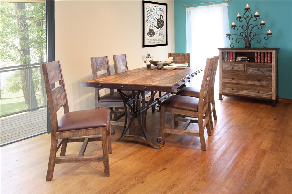 International Furniture Direct 970 7pc Dining Set - Item Number: P96292