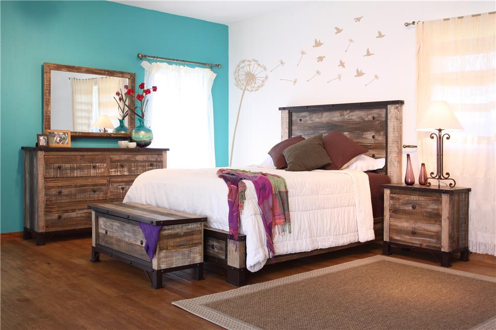International Furniture Direct 970 King Bed - Item Number: P96660