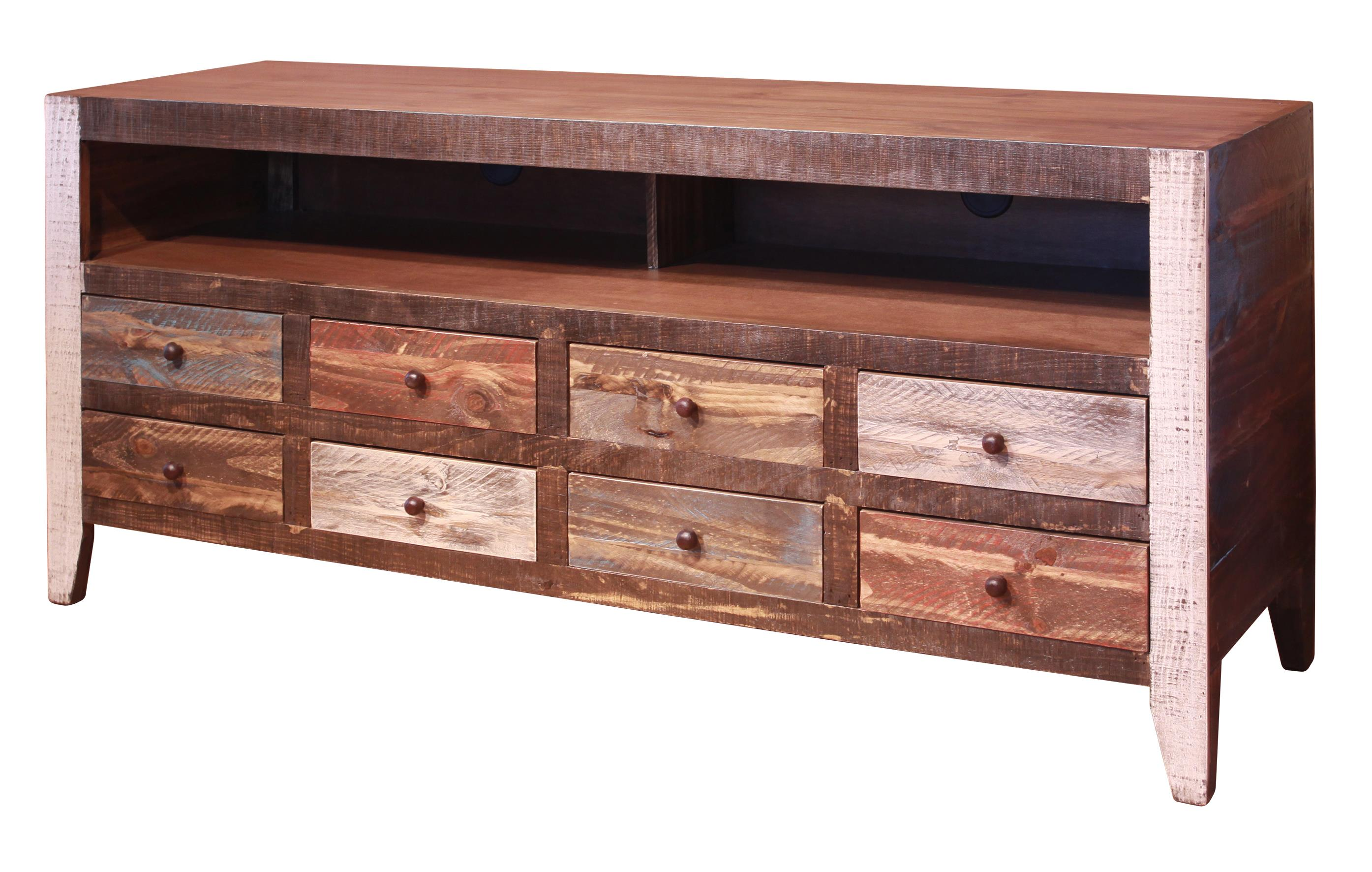 900 Antique 8 Drawer TV Stand by International Furniture Direct at Sparks HomeStore