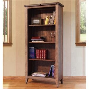 "International Furniture Direct 900 Antique 70"" High Open Bookcase"