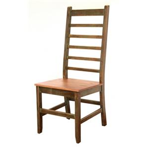 International Furniture Direct 900 Antique Casual Multicolor Bar With Iron Footrest Furniture