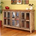 International Furniture Direct 900 Antique Console with 6 Doors - Item Number: IFD966CON-MC