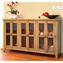 International Furniture Direct 900 Antique Console with 6 Doors - Item Number: IFD966CONS