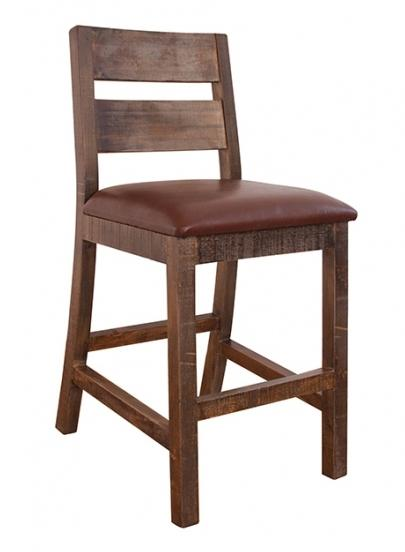 "International Furniture Direct 900 Antique 30"" Barstool - Item Number: IFD967BS30"