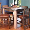 "International Furniture Direct 900 Antique 42"" Counter Height Dining Table - Item Number: IFD967COUNT-42"