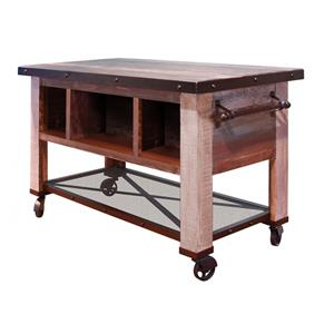 International Furniture Direct 900 Antique 5 Drawer Kitchen Island