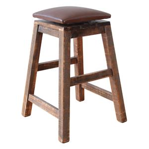 "International Furniture Direct 900 Antique 24"" Swivel Stool - For Counter Height Tables"