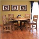 International Furniture Direct 900 Antique 5 Piece Table & Chair Set - Item Number: IFD967TABLE-T+B+4xIFD967CHAIR-MC