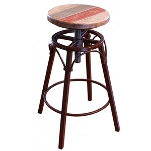 "International Furniture Direct 900 Antique 24""-30"" Adjustable Counter Stool"