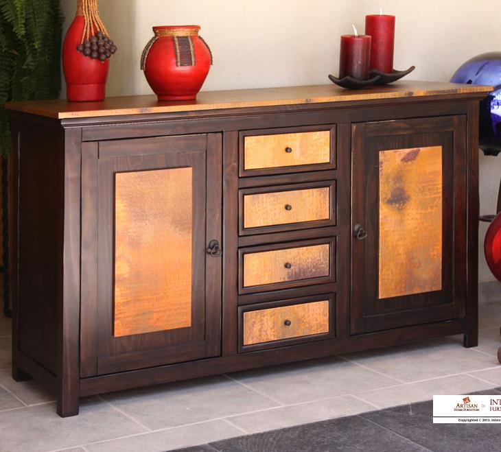 "960 59"" Console by International Furniture Direct at Zak's Home"