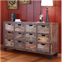 International Furniture Direct Consoles Multi-Drawer Console with 12 Drawers - Item Number: IFD965CONS-MD
