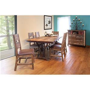 "International Furniture Direct 970 79"" Dining Table"