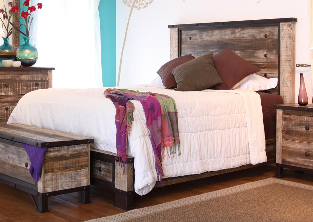 International Furniture Direct 970 Full Bed - Item Number: IFD966HDBD-F+PLTFRM-F