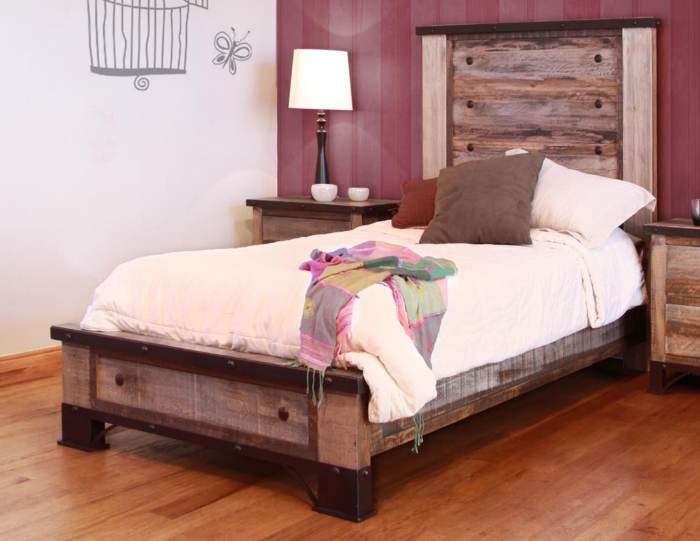 International Furniture Direct 970 Twin Bed - Item Number: IFD966HDBD-T+PLTFRM-T