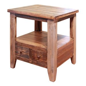 International Furniture Direct Antique End Table