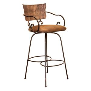 "International Furniture Direct Bar Stools 30"" Swivel Hand Forged Barstool"