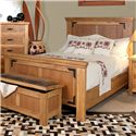International Furniture Direct Lodge Queen Bed - Item Number: LHR100HDBD+FTBD+RAILS-EK-LHR-10