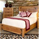 International Furniture Direct Lodge Queen Low Profile Bed - Item Number: LHR100HDBD-Q+LHR100PTLFR-Q+RAILS-Q