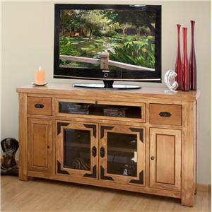 International Furniture Direct Lodge Entertainment TV Console