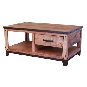 International Furniture Direct Maya Cocktail Table with 1 Drawer