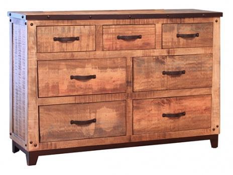 International Furniture Direct Maya 7 Drawer Dresser - Item Number: IFD766DSR
