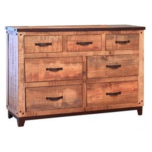 International Furniture Direct Maya 7 Drawer Dresser