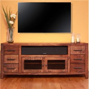"International Furniture Direct Monte Carlo 76"" TV Stand"