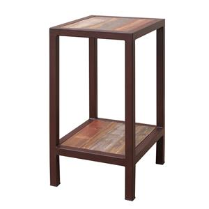 International Furniture Direct Occasional 961 Chair Side Table with 1 Shelf