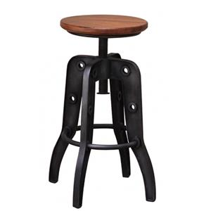 International Furniture Direct Parota 24-30 Inch Adjustable High Stool