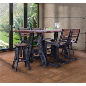 International Furniture Direct Parota Counter Height Table and Stools Set