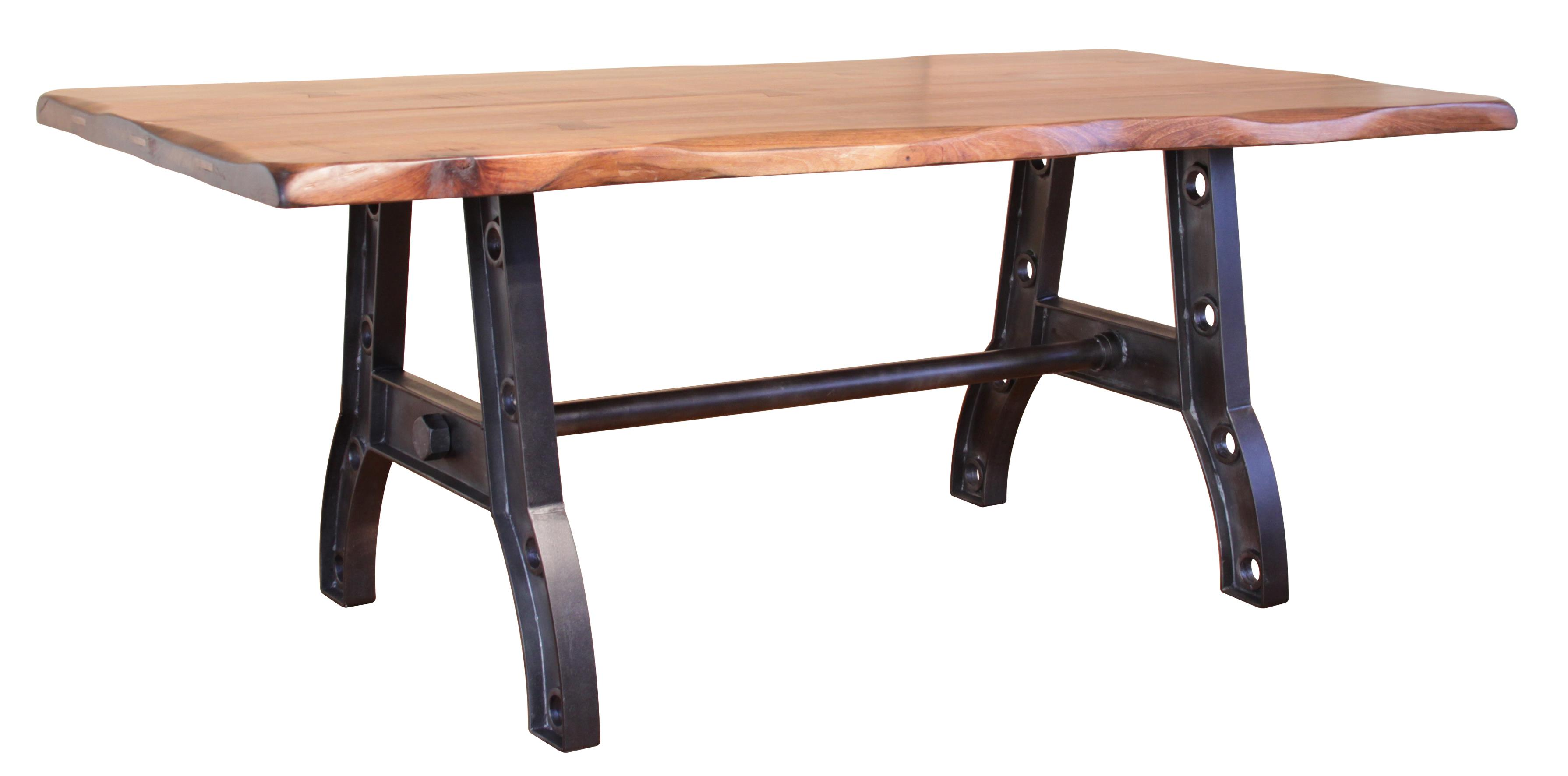 Trestle Table with Iron Base