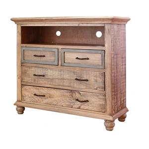 International Furniture Direct Praga  4 Drawer Media Chest