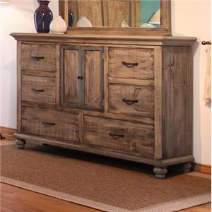 International Furniture Direct Praga  6 Drawer Dresser