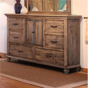 International Furniture Direct Praga  6 Drawer Dresser