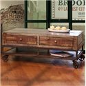 International Furniture Direct Urban Gold Rustic Contemporary Lift Top Cocktail Table