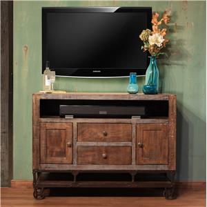"International Furniture Direct Urban Gold 52"" Solid Wood TV Stand"