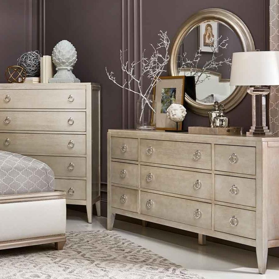 Artiste Furniture Miles Bed With Lee Cases 9 Drawer Dresser Mirror Baer S Furniture Dresser Mirror Sets
