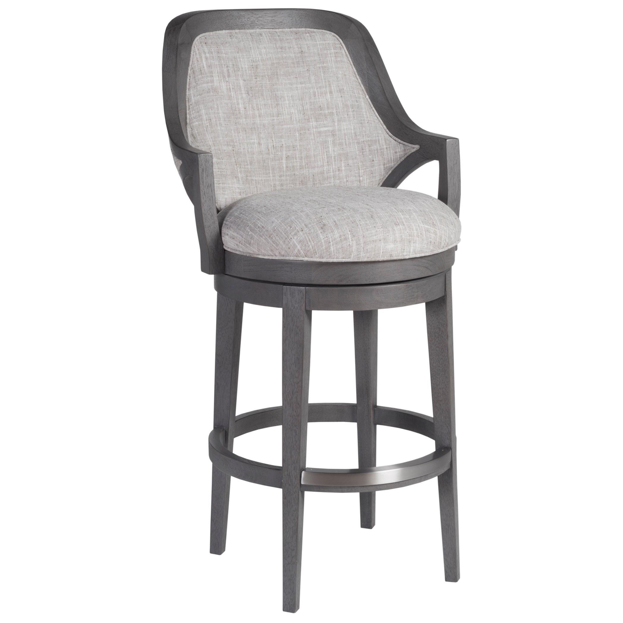 Appellation Upholstered Swivel Barstool by Artistica at Baer's Furniture