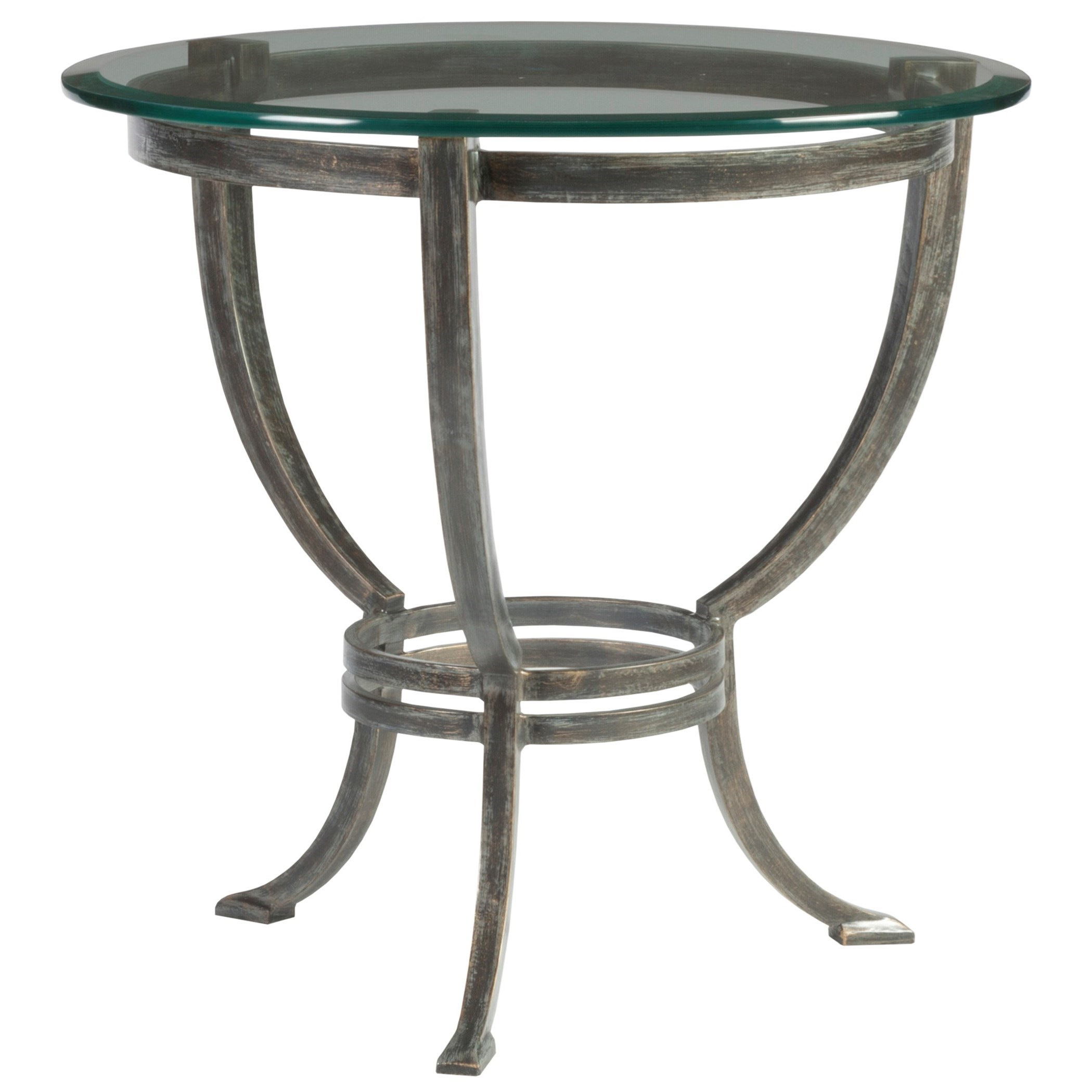 Metal Designs Andress Round End Table by Artistica at Sprintz Furniture
